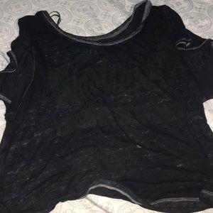 Thin black crop top